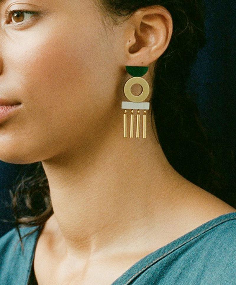 Серьги Memento Earrings Green