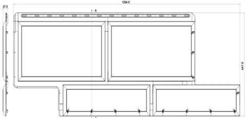 Фасадная панель Альта Профиль Камень флорентийский слоновая кость 1250х450 мм