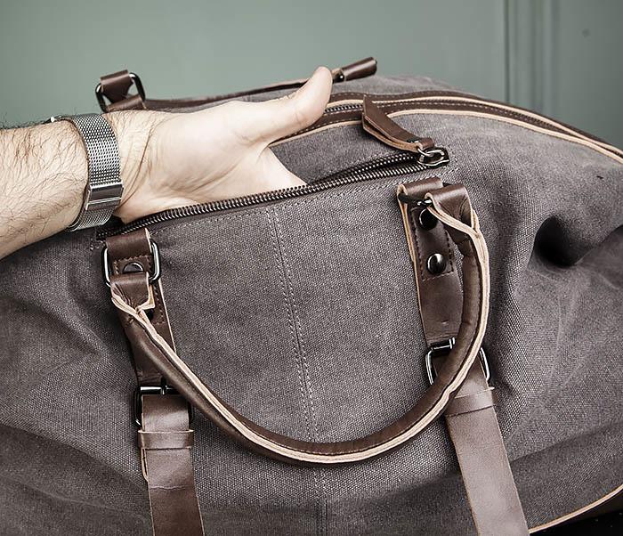 BAG478-3 Мужская сумка саквояж для поездок фото 07