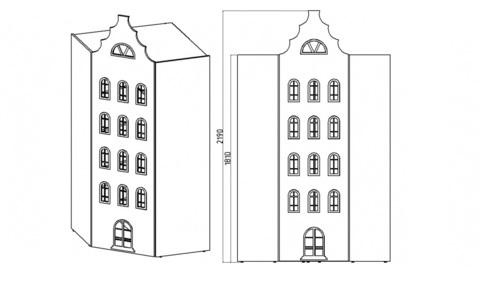 Шкаф домик Амстердам-9 Угловой (Н)