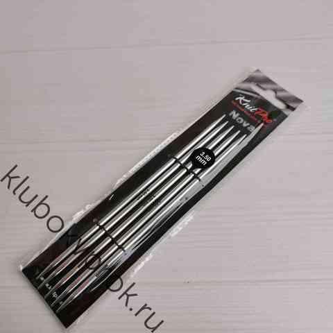 Спицы чулочные Knit Pro Nova Metal  15 см, № 3,5