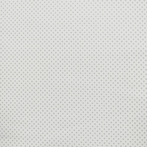 Ткань хлопковая серый горошек 3 мм на белом. Отрез 50*80 см