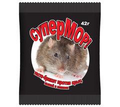 «СуперМОР — тесто-брикет» — средство против мышей, полевок, а также серых крыс (пакет 42 г)