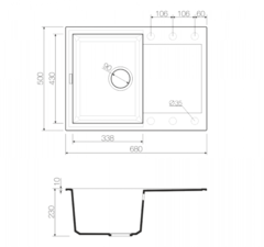 Схема Omoikiri Sakaime 68-BL
