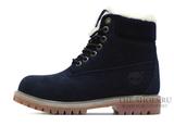 Ботинки Timberland 18027 Waterproof Dark Blue Женские С Мехом