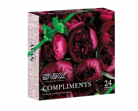 Подарочный набор чая Svay Compliments Peonies, 24 пак/уп