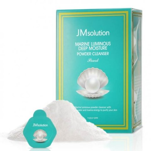 Увлажняющая энзимная пудра для умывания с жемчугом JMsolution Marine Luminous Deep Moisture Powder Cleanser Pearl