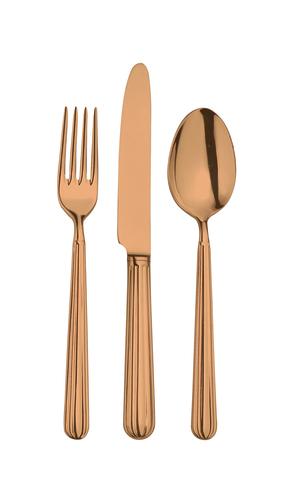 Набор столовых приборов  на 6 персон, 24 предмета, нержавеющая сталь ,медный, артикул 1204000D05, серия Metropolitan
