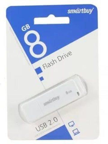 Флеш-накопитель USB  8GB  Smart Buy  LM05 белый
