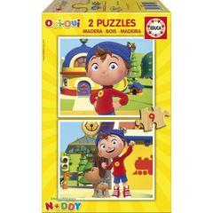 Puzzle -2x9 pcs Noddy2