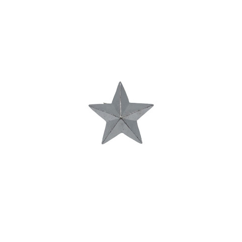 Звезда на погоны мет. 20 мм серебр.
