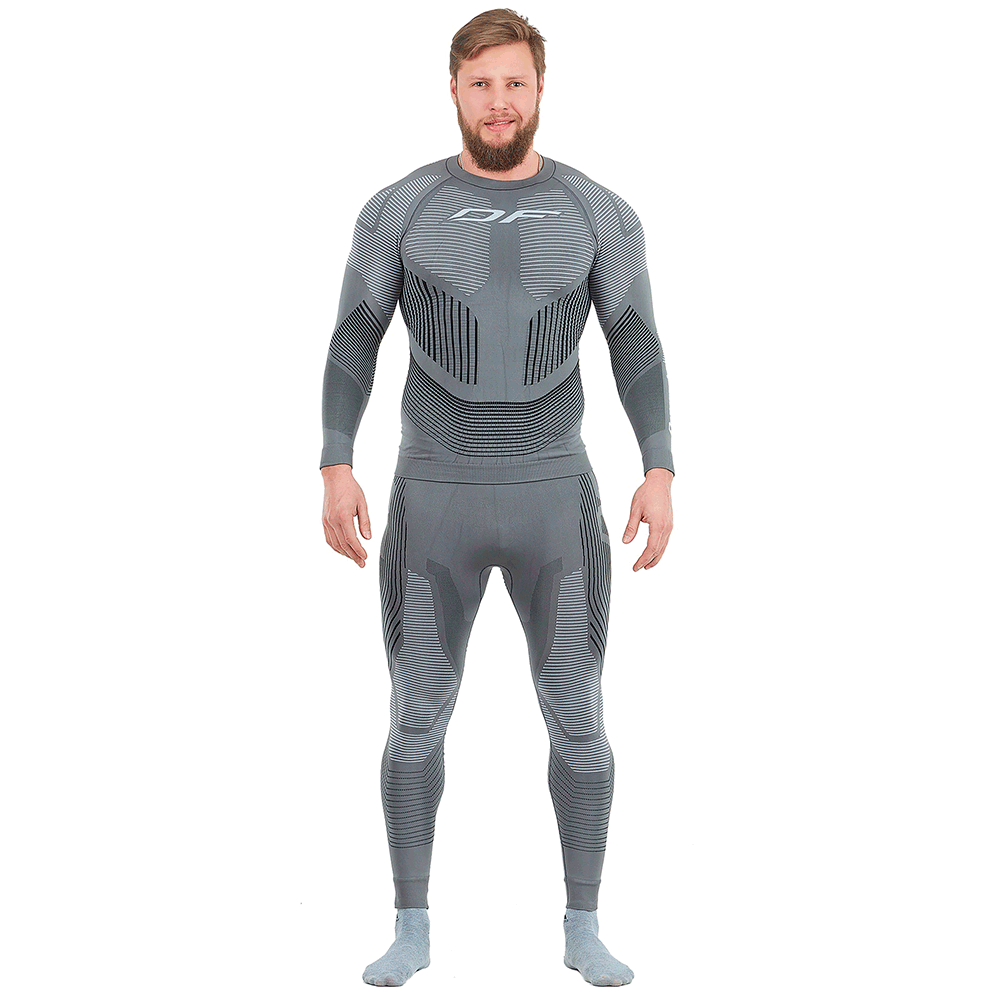 ФУТБОЛКА ДЛ РУКАВ DRAGONFLY 3D Thermo grey