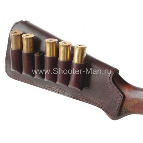 Патронташ на приклад на 12 и 16 калибр на 6 патронов Стич Профи артикул 3332 фото