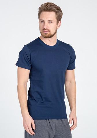 Синяя хлопковая футболка для мужчин