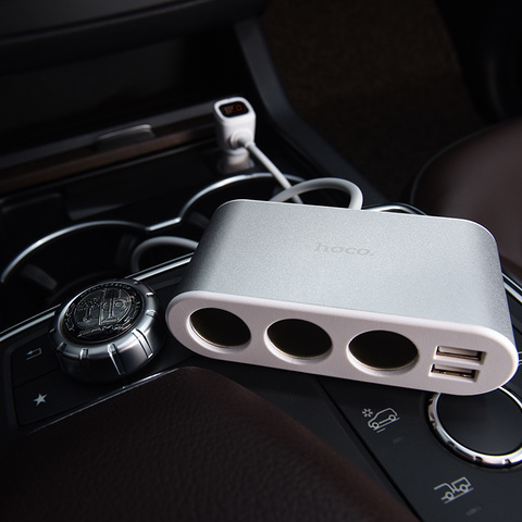 Z13 LCD one-pull-three car charger