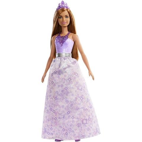 Барби Дримтопия Принцесса Брюнетка в Фиолетовом платье с Тиарой