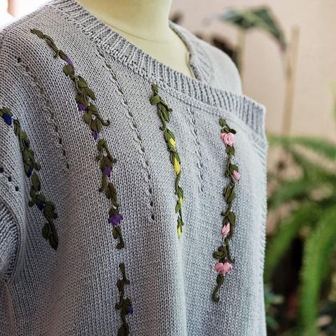Набор шелковых лент и мулине для элементов Puff Color