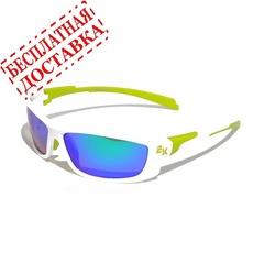 Очки солнцезащитные 2K IB-12062  (белый глянец / зелёные revo)