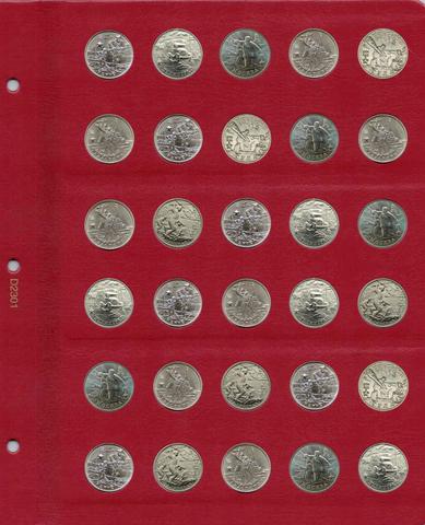 Универсальный лист для монет диаметром 23 мм
