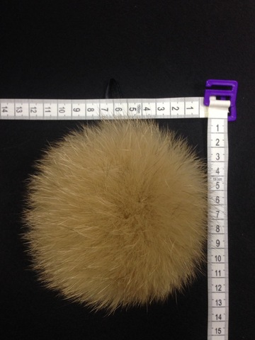Помпон из меха песца , d-13,14см (песочный)