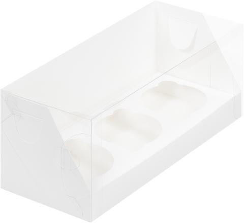 Коробка для 3 капкейков(белая)