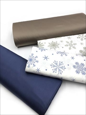 Снежинки + пыльно-синий