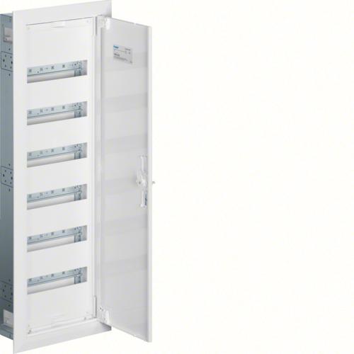Щиток встраиваемый,секционный,с оснасткой,950x300x110мм (ВхШхГ), одна дверь,RAL9010