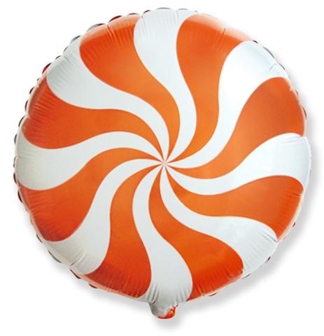 Фольгированный шар Леденец оранжевый