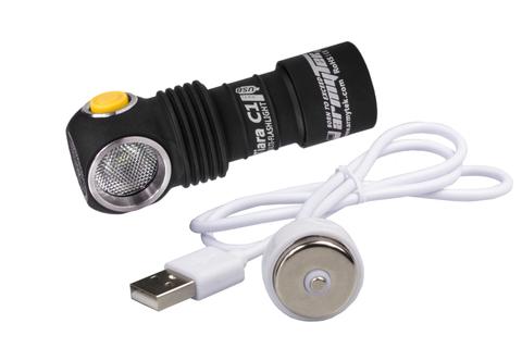 Налобный фонарь Armytek Tiara C1 Pro XP-L Magnet USB (белый свет) + 18350 Li-Ion
