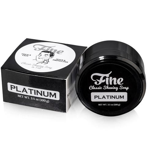 Мыло для бритья Fine Platinum 100 гр в банке