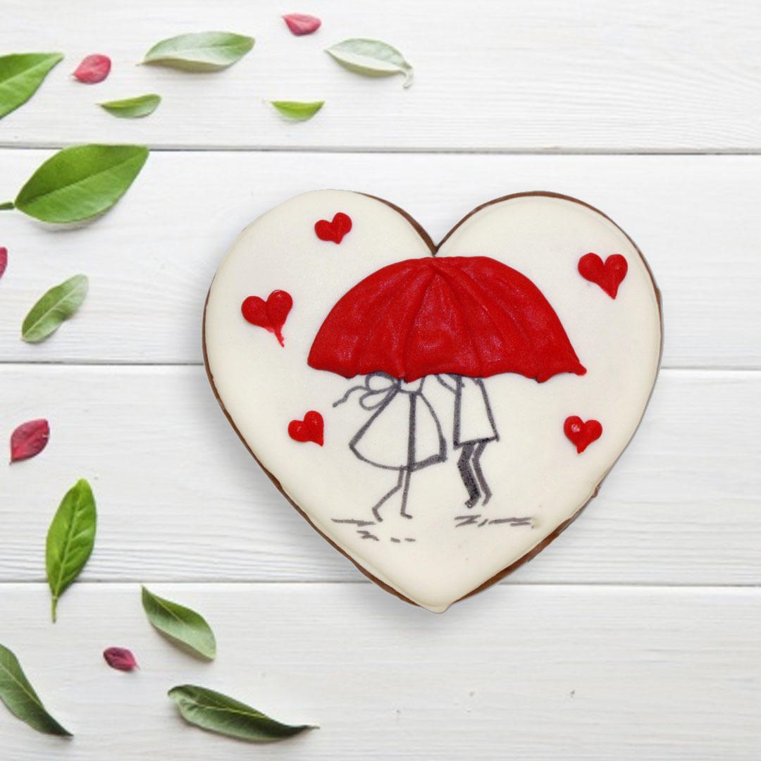 Фотография Пряник «Сердце №5» / 50 гр купить в магазине Афлора