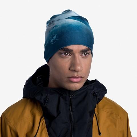Тонкая теплая спортивная шапка Buff Hat Thermonet Ethereal Aqua фото 2