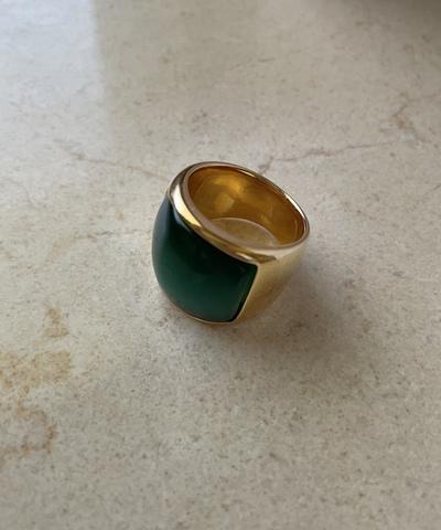 Кольцо Элюмен, зеленый