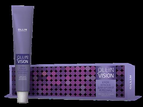 OLLIN Крем-краска для бровей и ресниц Коричневый 20 мл. (+салфетки)