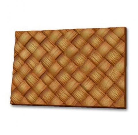 Пластиковая форма для шоколада ср. ПЛИТКА ПЛЕТЕНКА (береста) 145х100мм