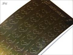 Металлизированные наклейки Arti nails Stiker цвет золото №6