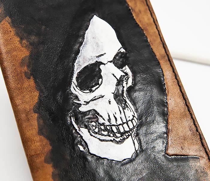 BC159 Обложка для паспорта Смертушка, ручной раскрас фото 02