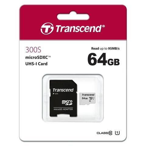 Карта памяти SDXC  64GB  Transcend 300S UHS-I U3