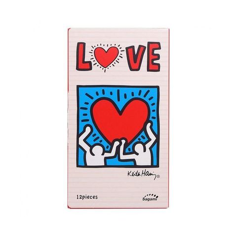 Sagami LOVE Keith Haring 12's Pack Презервативы латексные 12 шт.