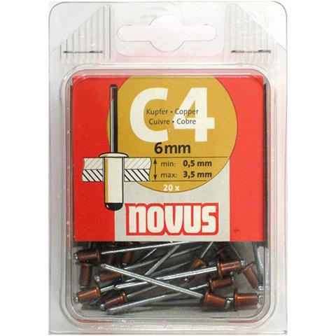 Заклепки потайные С4х6 мм NOVUS (20 шт)