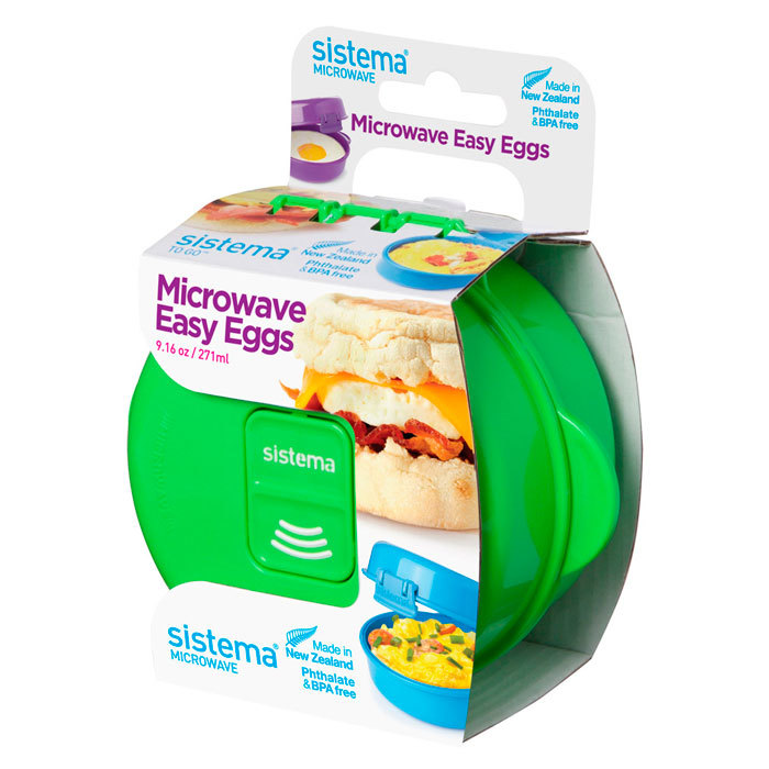 "Омлетница-яйцеварка для СВЧ Sistema ""Microwave"" 271 мл, цвет Зеленый"