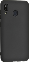Чехол силиконовый для Samsung Galaxy A20, черный
