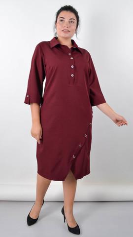 Ріо. Витончена сукня для пишних жінок. Бордо.