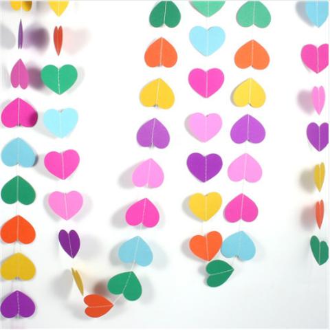 Гирлянда-подвеска Сердца, Разноцветное ассорти