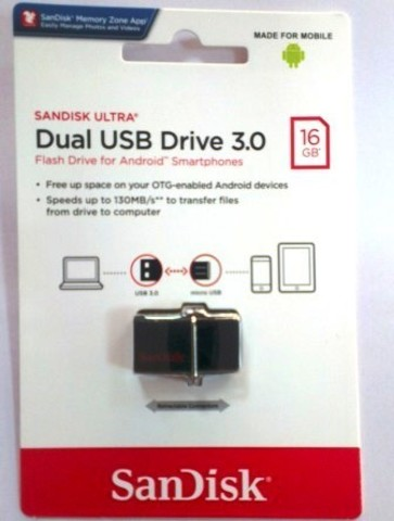 USB флэш-диск SanDisk 16GB Ultra Dual OTG Black 3.0