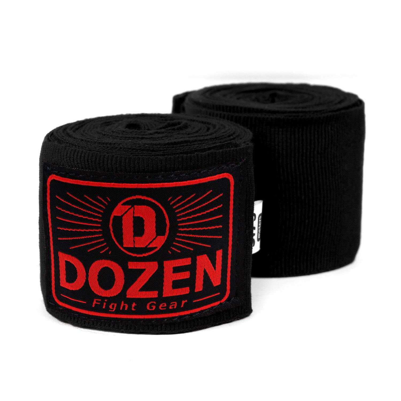 Бинты черно-красные Dozen Monochrome Semi-elastic главный вид