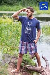 Пижама мужская с шортами KEY MNS 710 A21