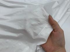 Микрофибра белая с сердечками (метражом)