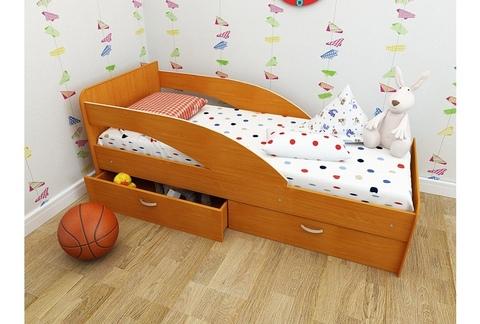 Кровать Антошка вишня