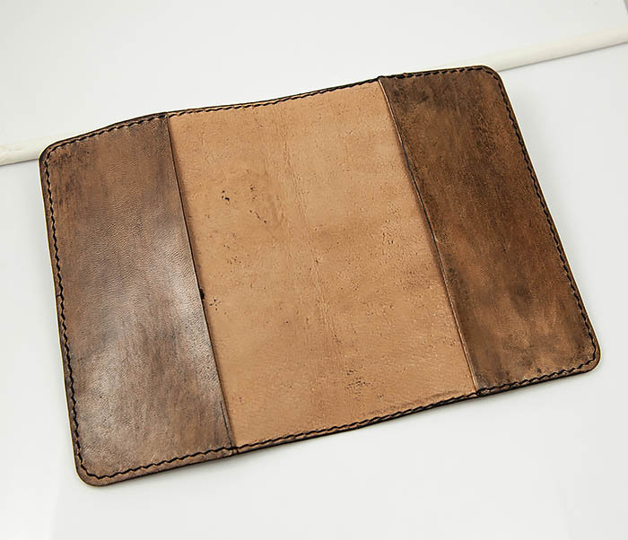 BC159 Обложка для паспорта Смертушка, ручной раскрас фото 04